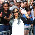 Rihanna sort de son hôtel à Londres le 20 juillet 2013