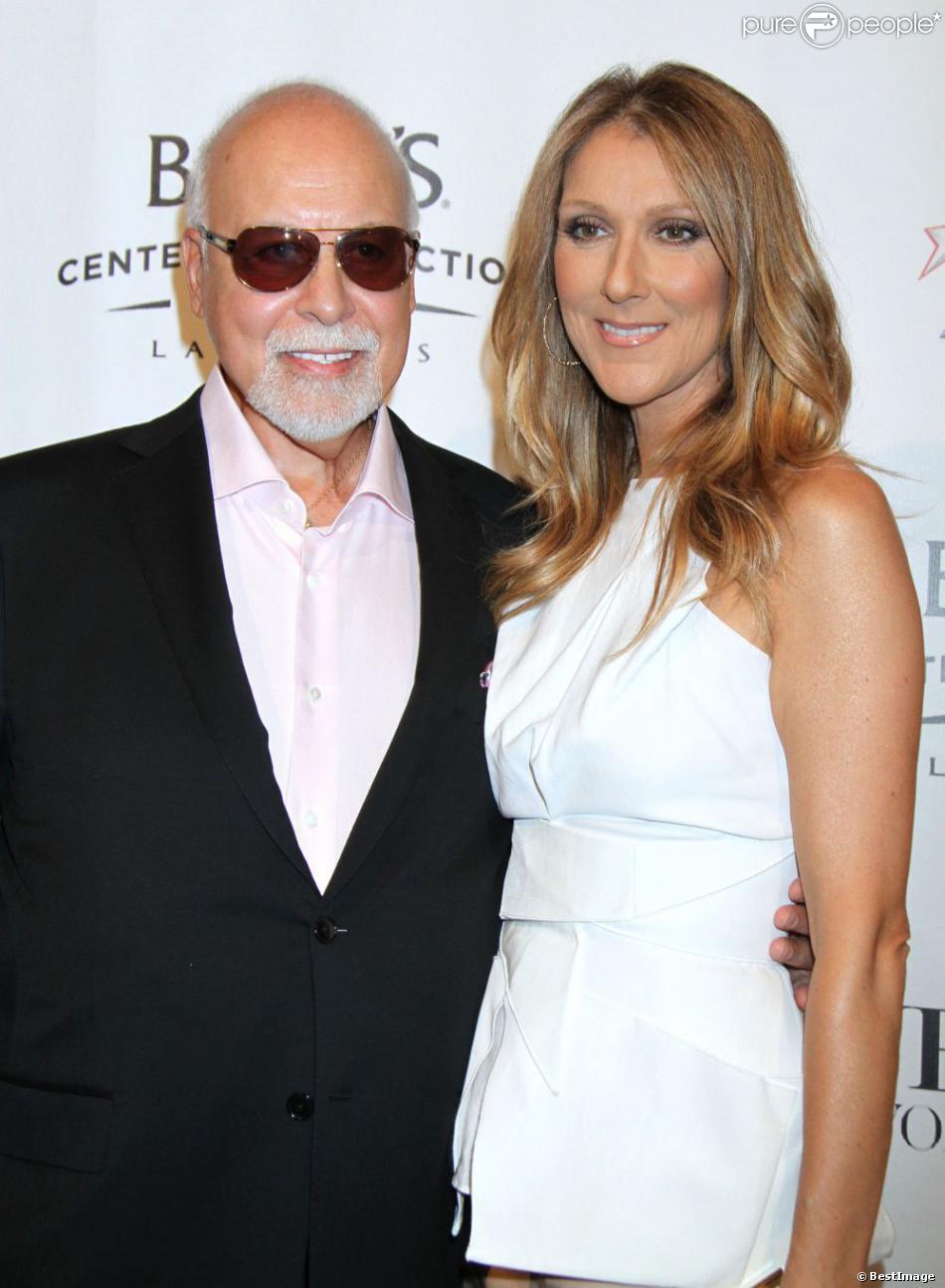 Céline Dion et René Angélil à la première de Veronic Voices, au théâtre The Jubilee, à l'hôtel Bally, à Las Vegas, le 28 juin 2013.