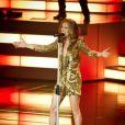 Céline Dion sur la scène du Caesars Palace de Las Vegas, le 15 mars 2011.