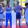 Vincent, Florine, Jamel et Guillaume lors de la soirée fantasmes dans Secret Story 7