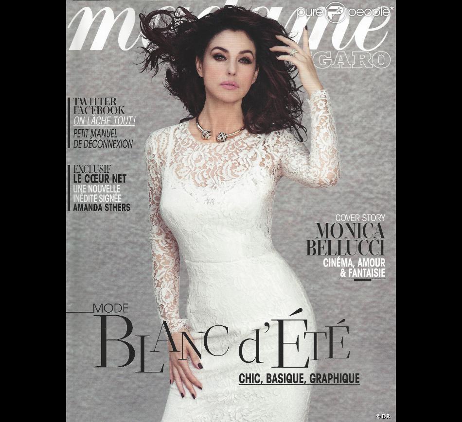 Monica Bellucci en couverture du magazine Madame Figaro du 26 juillet 2013