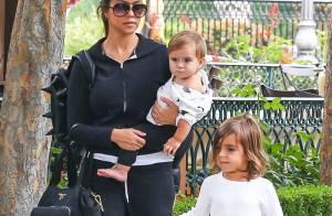 Kourtney Kardashian : Fin des vacances pour la star et ses deux enfants