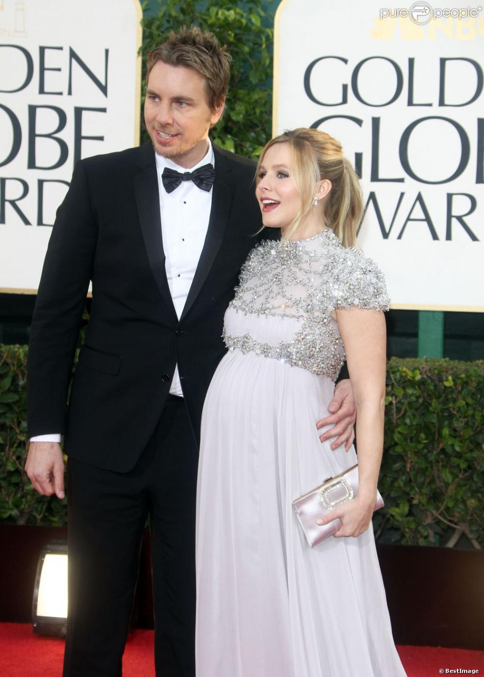kristen bell dax shepard 70e soir e des golden globe awards beverly hills le 13 janvier 2013. Black Bedroom Furniture Sets. Home Design Ideas