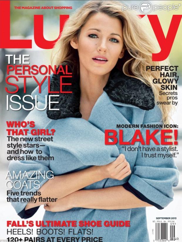 Blake Lively en couverture du September Issue de Lucky Magazine
