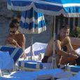 Grosse ambiance pour Ryan Giggs et son épouse Stacy Cooke dans le Sud de la France durant leurs vacances, le 30 juillet 2013