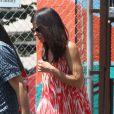Sandra Bullock va chercher son fils Louis à son école de Los Angeles, le 2 août 2013.