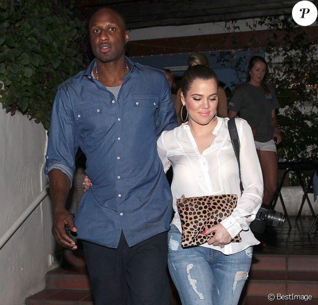 Lamar Odom et Khloe Kardashian à Malibu. Le 18 avril 2013.