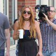 Lindsay Lohan en tournage à New York, le 5 août 2013.