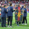 Eric Abidal lors de ses adieux déchirants au Camp Nou pour son dernier match sous les couleurs du FC Barcelone, le 6 juin 2013