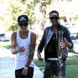 Justin Bieber à Los Angeles le jeudi 15 août 2013.