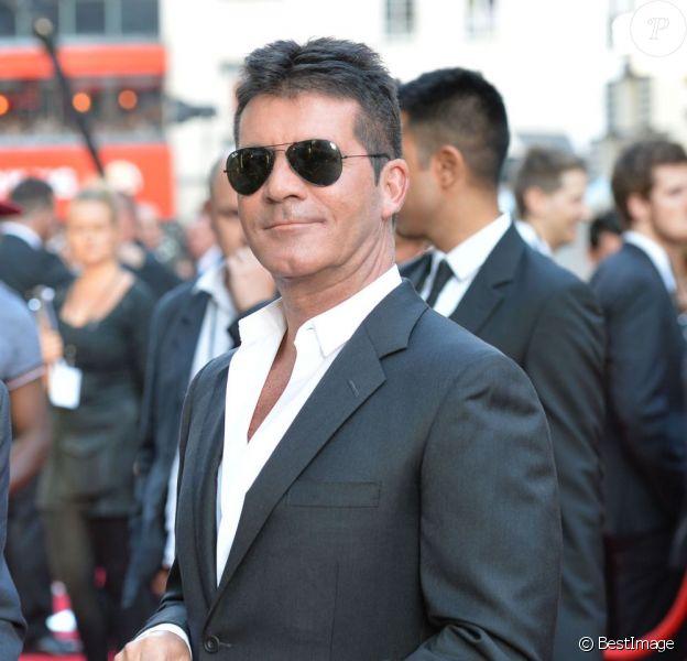 """Simon Cowell à la première du film """"One Direction : This Is Us"""" à Londres, le 20 août 2013."""