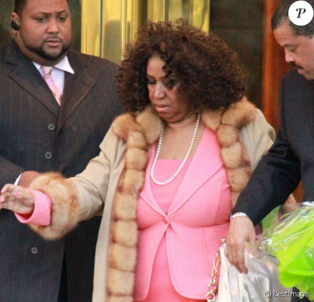 Aretha Franklin à New York, le 4 avril 2012.