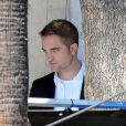 Robert Pattinson sur le tournage de Maps to the Stars à Hollywood, le 20 août 2013.