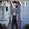 Lily Collins dark et gothique en couverture du Flaunt Magazine.