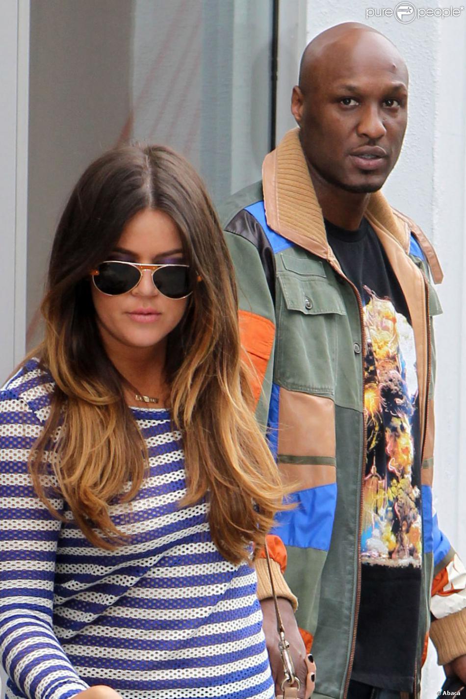 Khloé Kardashian et Lamar Odom à New York. Avril 2012.