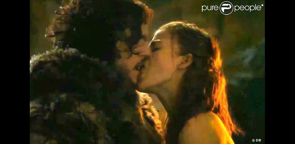 Kit Harington (Jon Snow) et Rose Leslie (Ygritte) dans Game of Thrones, saison 3