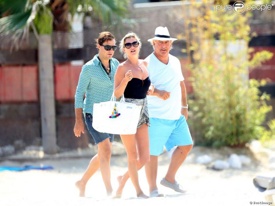 Kate Moss, Jamie Hince et Sir Philip Green en vacances à Saint-Tropez, le 24 août 2013.