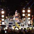 Katy Perry lors de sa prestation aux MTV VMA à New York, le 25 août 2013.