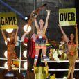 Katy Perry a chanté Roar à l'occasion des MTV VMA à New York, le 25 août 2013.