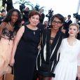 Hapsatou Sy, Roselyne Bachelot, Audrey Pulvar et Elisabeth Bost du Grand 8 à Cannes le 24 mai 2013.