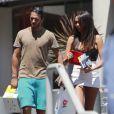 Nabilla et son petit ami Thomas Vergara se promènent à Los Angeles, le dimanche 18 août 2013.