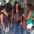 Nabilla et Thomas Vergara quittent leur hôtel, à Beverly Hills, le dimanche 18 août 2013.