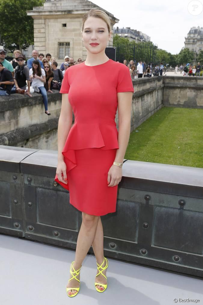 L a seydoux lors du d fil haute couture christian dior for Bains de lea paris