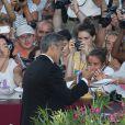 George Clooney à la cérémonie d'ouverture et la présentation de Gravity à la 70e Mostra de Venise, le 28 août 2013.