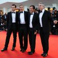 David Heyman, Alfonso Cuaron, George Clooney et Jonas Cuaron à la 70e Mostra de Venise, le 28 août 2013.