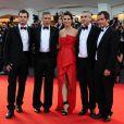 David Heyman, Alfonso Cuaron, Sandra Bullock, George Clooney et Jonas Cuaron à la 70e Mostra de Venise, le 28 août 2013.