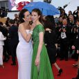 Andie McDowell avec sa fille Sarah Margaret Qualley lors du Festival de Cannes 2012