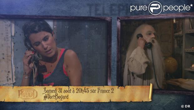La pauvre Karine Ferri dans les insectes dans Fort Boyard sur France 2 samedi 31 août 2013