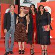 """Roberto Zibetti, Hiam Abbass, Gabrielle Union, Ava DuVernay lors de l'événement """"Miu Miu Women's Tales"""" lors de la 70e Mostra de Venise, le 29 août 2013."""