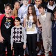 Katherine Jackson et ses petits enfants à Los Angeles, le 27 janvier 2012.