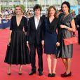 Laurence Arné, Vincent Lacoste, Valérie Donzelli et Géraldine Maillet lors de la cérémonie d'ouverture du 39e Festival du cinéma américain de Deauville, le 30 août 2013