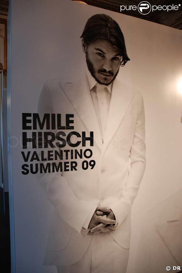Le très beau Emile Hirsch, nouvel homme idéal pour Valentino !