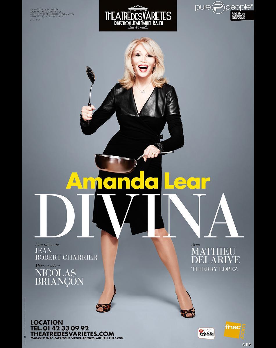 Amanda Lear au théâtre dans Divina, dès le 13 septembre 2013 au Théâtre des Variétés à Paris.
