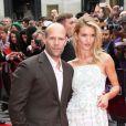 Jason Statham et Rosie Huntington-Whiteley à Londres, le 17 juin 2013.