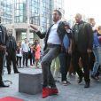EXCLU : Cyril Hanouna lors de l'arrivée sur le plateau de la première de Touche pas à mon poste sur D8 le 2 septembre 2013