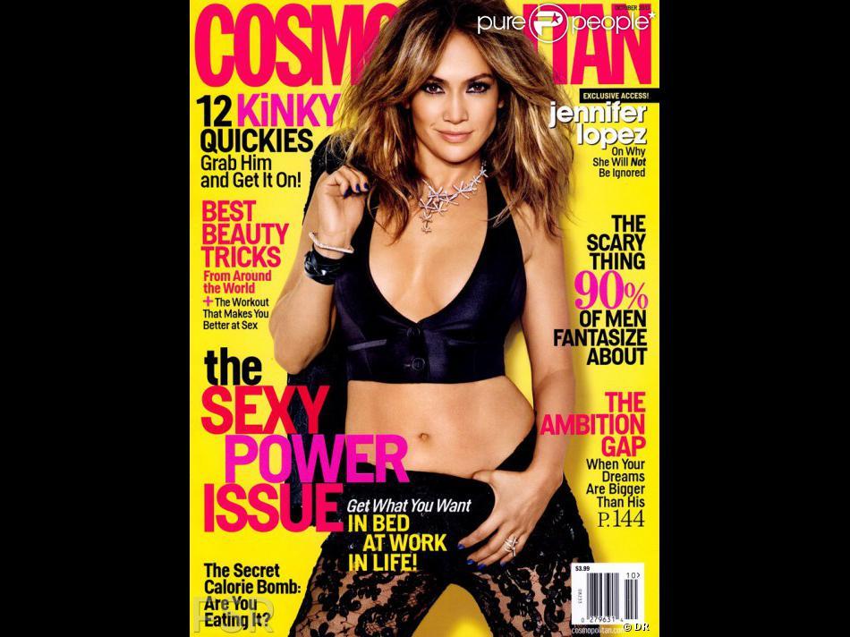 Jennifer Lopez en couverture de Cosmopolitan, octobre 2013.