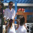 Jennifer Lopez et son ex-mari Marc Anthony vont chercher leur fille Emme à l'école, à Los Angeles, le 19 juin 2013.