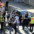 Les pompiers et la PJ autour du corps d'Adrien Anigo, fils du directeur sportif de l'OM, tué par balles le 5 septembre 2013 à Marseille.