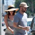 Jack Osbourne et sa femme Lisa Stelly vont déjeuner au restaurant à Los Feliz, le 15 août 2013.