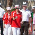Le prince Albert II de Monaco et la princesse Charlene, associés à Dylan Rocher et Daniel Elena, ont remporté le 5 septembre 2013 le tournoi Peace and sport pro/am organisé à la veille de la finale des Masters de Pétanque de Monaco 2013 sur la place du palais princier.