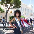 Aulin Grac, Miss Prestige National le 5 septembre 2013 au tournoi Peace and sport pro/am organisé à la veille de la finale des Masters de Pétanque de Monaco 2013 sur la place du palais princier.