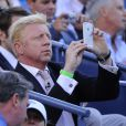 Former tennis champion Boris Becker attends the women final at the tennis US Open tournament held at the Arthur Ashe stadium in Flushing Meadows, New York City, NY, USA, on September 8, 2013. Photo by Corinne Dubreuil/ABACAPRESS.COM09/09/2013 - New York City
