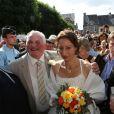 Thierry Olive et Annie, à Gavray, en septembre 2012