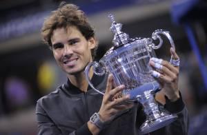 US Open 2013 : Rafael Nadal, larmes de joie devant sa belle Xisca