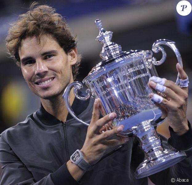 Rafael Nadal, vainqueur de l'US Open après sa victoire sur Novak Djokovic le 9 septembre 2013 à Flushing Meadows