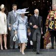 Lord Freddie Windsor et son épouse Sophie Winkleman avec le prince et la princesse Michael de Kent à la cathédrale St Paul de Londres le 5 juin 2012 après la messe pour le jubilé de diamant d'Elizabeth II.